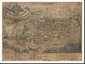 mappa di Offida (Ferdinando Fabiani - 1694)