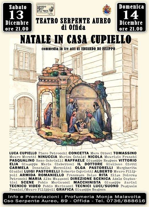 """Il GAd'A omaggia De Filippo con """"Natale in Casa Cupiello"""""""