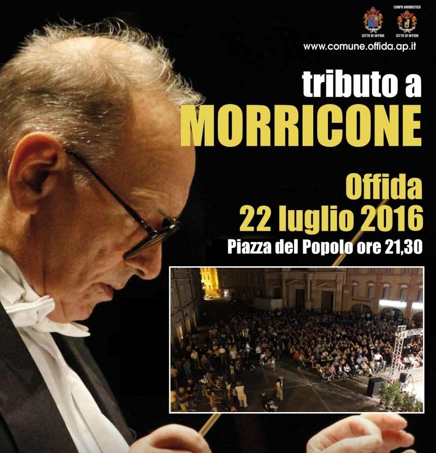 Offida, il tributo a Morricone dellabanda