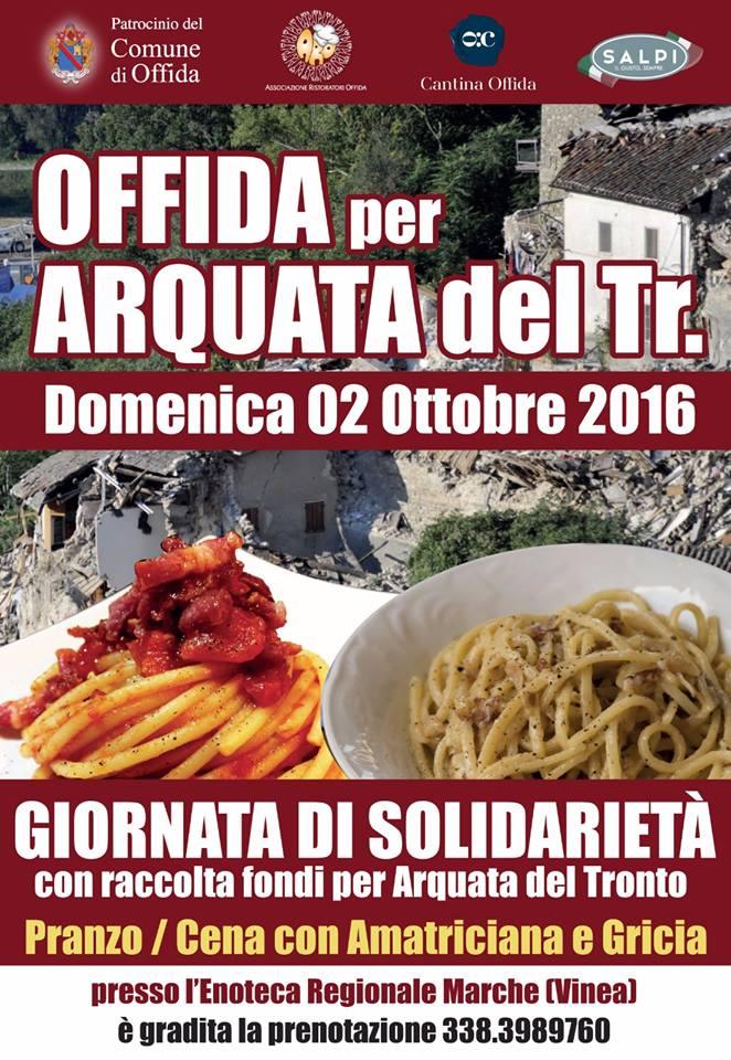 Offida, giornata di solidarietà perArquata