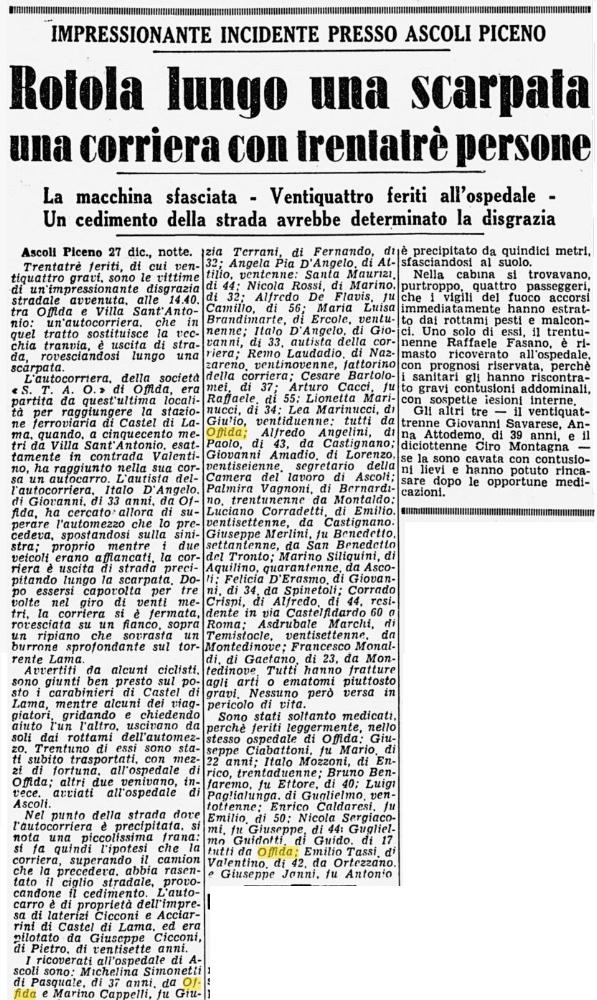 incidente 27 dicembre 1955