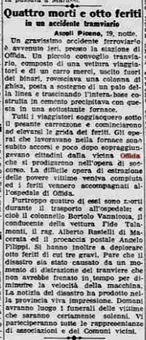 tramvia offida La Stampa 19 settembre 1927